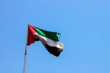 The flag of UAE, United Arab Emirates, Dubai