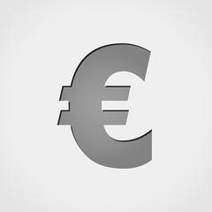 euro grey icon