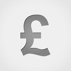 pound grey icon