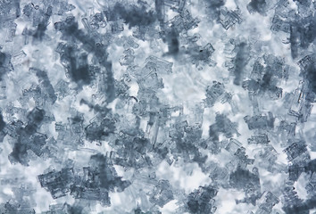natural frosty background from transparent ice crystals