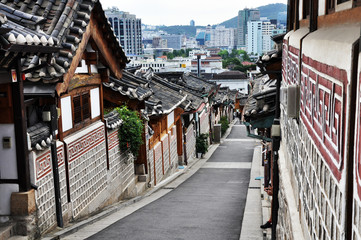 Traditional Korean Style House Village