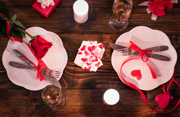 Setting The Table for Valentine's Day
