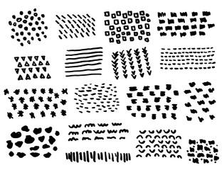 Doodle geometric shape and textile illustration vector