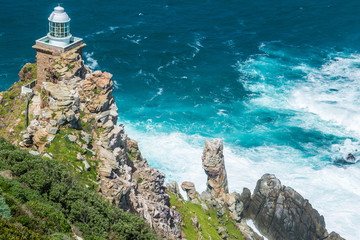 Lighthouse at Cape Point, South Africa