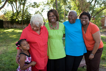 Generations of African American women. Loving family.