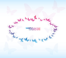 Abstract Colorful Background. Vector.Butterfly beautiful