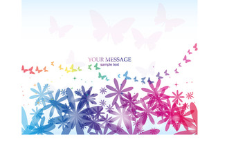 Abstract Colorful Background. Vector.  Flowers beautiful
