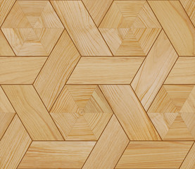 Obraz Seamless parquet texture. Can be used for 3D rendering. - fototapety do salonu