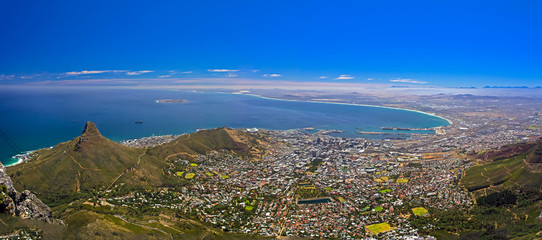 Cape Town Viewed from Table Mountain