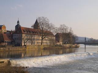Blick über die Weser in Hameln