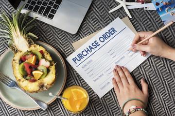 Purchase Oreder Online Form Deal Concept