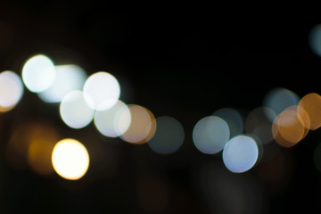 colorful bokeh of the light from the city
