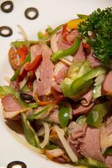 Smoked duck salad mixed