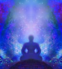 man meditate, yoga.