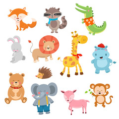 Cute Cartoon Animal Characters