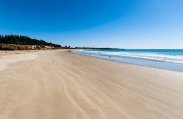 Empty beach in New Zealand