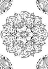 Background mandala flower to meditation