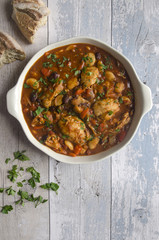 Chicken and bean stew