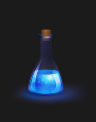 Blue magic potion