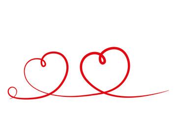 zwei geschwungene Herzen