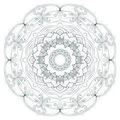 Set of ornamental mandalas. Circular patterns made in a vector.