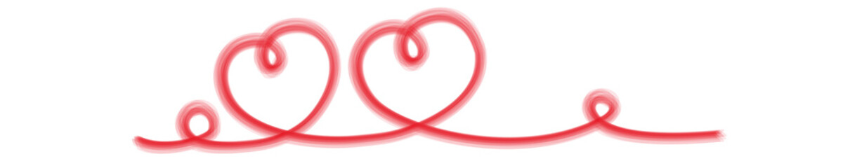 zwei Herzen Zeichnung