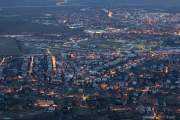 Twilight over the city, Nitra, Slovakia