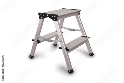 Small Aluminum Ladder : Quot small metal ladder clipping path stock photo and