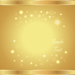Vector gold background with stars
