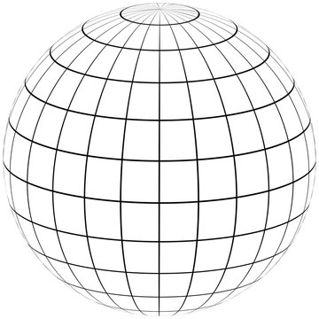 graticule globe Meridian and parallel