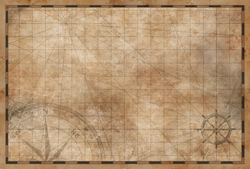 Wall Mural - old vintage map background