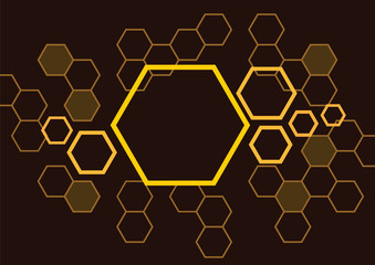 hexagon_bee_hive_in_brown