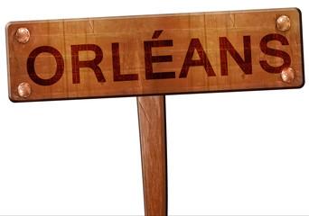 orleans road sign, 3D rendering