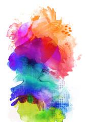 farben texturen regenbogen hochformat