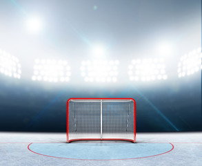 Ice Hockey Goals In Stadium