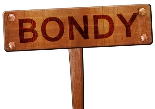 bondy road sign, 3D rendering