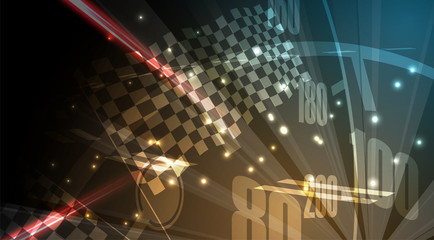 Racing speed background, vector illustration abstraction in car track motion