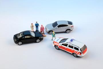Unfall und Schaulustige