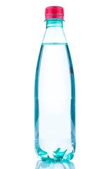 Bottle pure water on white background