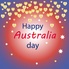 Happy Australia day card on a colorful background