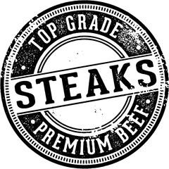 Premium Top Grade Steaks Stamp