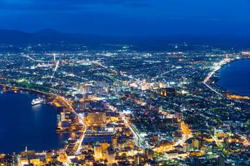 Hakodate City at night