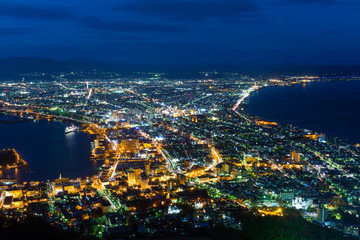 Hakodate cityscape at night