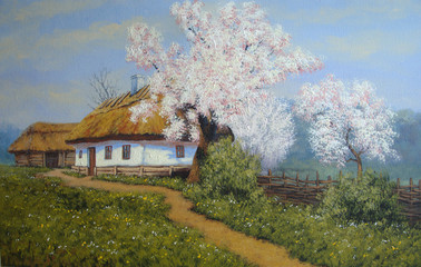 Ukrainian landscape,oil paintings,art