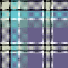 Cool check fabric texture square pixel seamless pattern