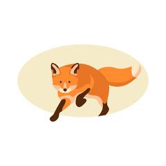 Fox vector illustration style Flat