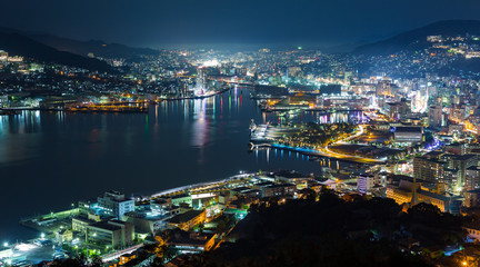 Nagasaki city at night