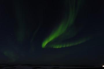 Iceland northern lights horseshoe shape