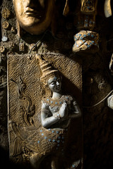 Thai sculpture, THAILAND (dark background)
