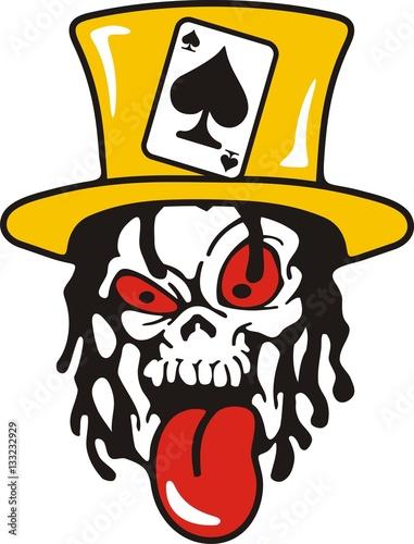 skull joker card stock image and royalty free vector files on rh fotolia com joker vector face joker vector art